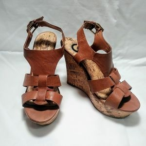 Guess Wedge Sandals Size 6